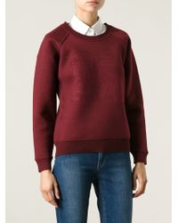 Burberry Embossed Logo Sweatshirt - Lyst
