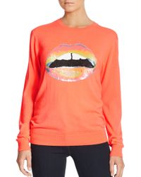 Markus Lupfer Neon Sequin Lips Sweater - Lyst