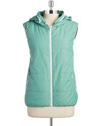 Bench - Hooded Zip Up Vest - Lyst