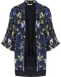 Oasis Midnight Bird Kimono Jacket - Lyst