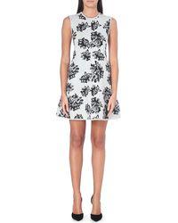 MSGM Floral Jacquard-knit Dress - Lyst