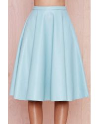 Nasty Gal Tara Faux Leather Midi Skirt - Lyst