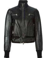Alexander McQueen Biker Bomber Jacket - Lyst