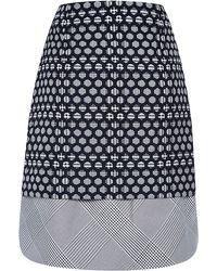 Antonio Berardi Double Woven Honeycomb Prince Of Wales Skirt - Lyst