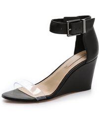 BCBGMAXAZRIA - Latch Wedge Sandals - Lyst