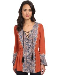Free People Printed Moments Tunic - Lyst