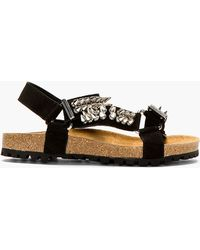 DSquared2 Black Suede Spike Stud Sandals - Lyst