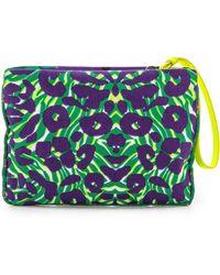 M Missoni | Camouflage Canvas Pouch Purple | Lyst