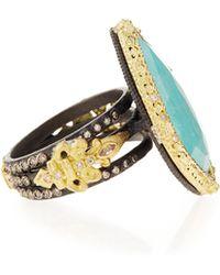 Armenta - Old World Blue Turquoise & Diamond Ring - Lyst