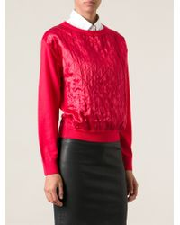 Moschino Quilted Sweater - Lyst