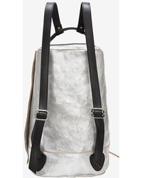 Collection Privée - Collection Privée Cracked Leather Backpack - Lyst