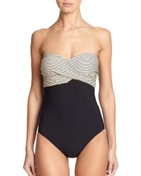 Gottex One-Piece Twist-Bandeau Swimsuit - Lyst