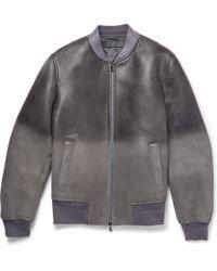 Neil Barrett Dãgradã Distressed Leather Bomber Jacket - Lyst