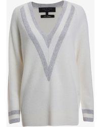 Rag & Bone Talia Cashmere Varsity Sweater - Lyst