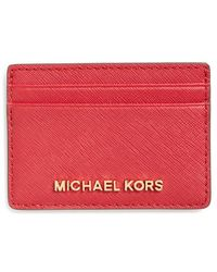 MICHAEL Michael Kors | 'jet Set' Card Holder | Lyst