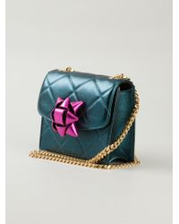 Marc Jacobs Mini Party Bow Trouble Metallic-lambskin Cross-body Bag - Lyst