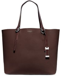 Michael Kors Rogers Large Leather Tote - Lyst