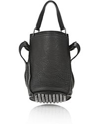 Alexander Wang - Insdie Out Diego Bucket In Black Rubber Laminated - Lyst