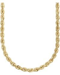 Lord & Taylor - 14k Yellow Gold Rope Chain Link Necklace - Lyst