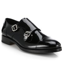 DSquared² Patent Leather Double-Buckle Monk Strap Shoes - Lyst