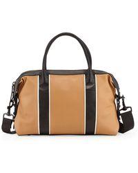 L.A.M.B. Gigi Leather Satchel Bag beige - Lyst