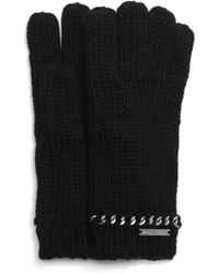 Michael Kors - Chain-embellished Knitted Gloves - Lyst