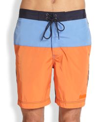 Michael Kors Colorblock Swim Trunks - Lyst