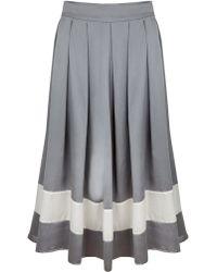 Kelly Love - Sweet Southern Silk Midi Skirt - Lyst