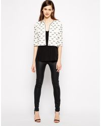 French connection Geo Daisy Crop Jacket - Lyst