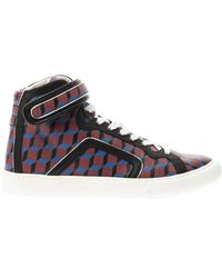 Pierre Hardy Coatedcanvas Hightop Trainers - Lyst