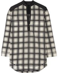 Proenza Schouler Checked Cotton And Silk-Blend Voile Tunic - Lyst