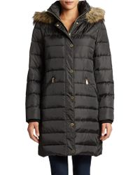 Michael Kors Hooded Full Length Parka - Lyst