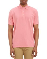 Barneys New York Piqué Knit Polo Shirt - Lyst