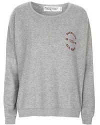 Topshop Warriors Fleece Sweatshirt By Project Social T gray - Lyst