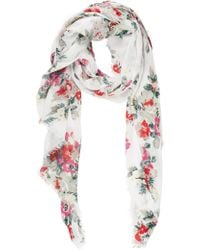 Barneys New York Floralprint Gauzy Scarf - Lyst