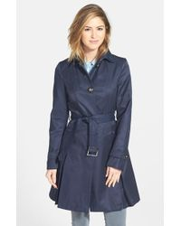 Laundry by Shelli Segal Skirted Trench Coat - Lyst