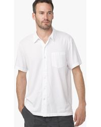 James Perse Brushed Cotton Polo - Online Exclusive white - Lyst