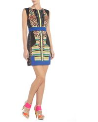 BCBGMAXAZRIA Runway Leo Quilted Colorblocked Dress - Lyst