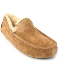 Ugg Ascot Beige Lined Suede Shoes - Lyst