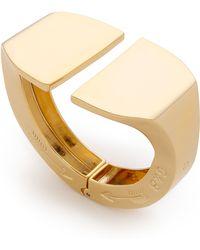 Giles & Brother Jumbo Stirrup Hinge Cuff Bracelet - Gold - Lyst
