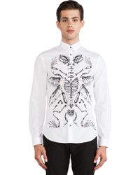 McQ by Alexander McQueen Handdrawn Classic Fitted Shirt - Lyst