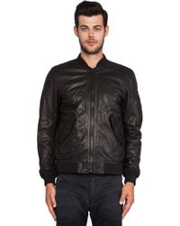 Diesel Devra Leather Jacket - Lyst
