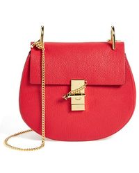 Chloé 'Drew' Leather Crossbody Bag - Lyst