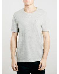 Topman Ltd Core Off White Tri-Marl T-Shirt - Lyst