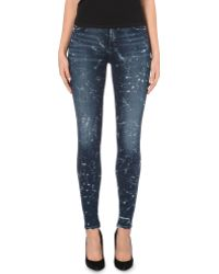 Citizens Of Humanity Rocket Skinny High-waist Splatter-print Stretch-denim Jeans - Lyst