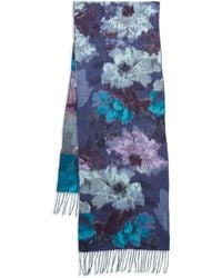 Lord & Taylor - Floral Knit Scarf - Lyst