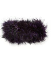 Adrienne Landau - Fox Fur Headband - Lyst 75cdfe2d6b1