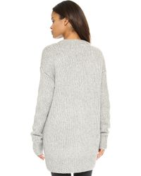 NLST - Fisherman Cardigan Sweater - Lyst