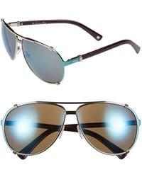 Dior Women'S 'Chicago' 63Mm Metal Aviator Sunglasses - Palladium/ Khaki - Lyst