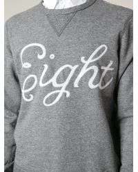 Rag & Bone Eight Embroidered Sweatshirt - Lyst